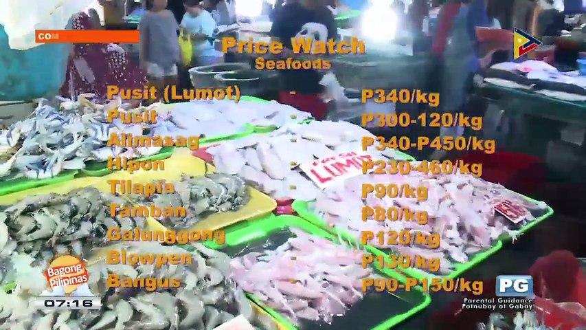 PRICE WATCH: Presyo ng mga seafood sa Commonwealth Market
