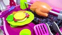 Cuisine rose jouets pour filles lumières et des sons Assemblée