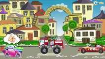 Big Trucks are Superheroes Cartoon - Car Parking - Cool video for kids with cars