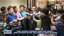 Pres. Duterte, handang ilabas ang umano'y bank accounts ni Sen. Trillanes sa labas ng bansa