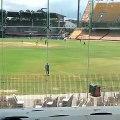 Akshay Karnewar ambidextrous Indian bowler bowling against Australia