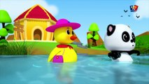 Cinq petits canards - canards riment pour les enfants - chansons pour bébés - Five Little Ducks