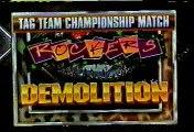 Rockers vs Demolition for Tag Titles  (1990.07.28)