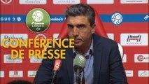 Conférence de presse Stade de Reims - Stade Brestois 29 (0-1) : David GUION (REIMS) - Jean-Marc FURLAN (BREST) - 2017/2018