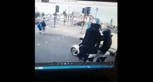 Deux hommes cagoulés tentent de lui voler son scooter.