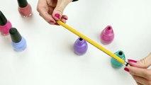 DIY Crafts: Easy DIY Pen & Pencil Nail Polish Bottles - Cool Craft Idea (Mini Pencil & Pen DIYs)