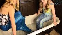Sirène de la glace bain défi gelé ailette amusement sirènes