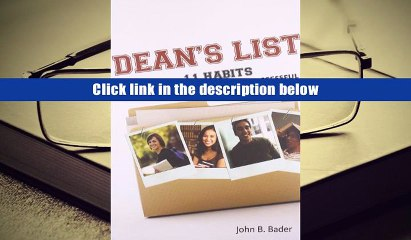 [Download]  Dean s List: Eleven Habits of Highly Successful College Students John Bader Pre Order