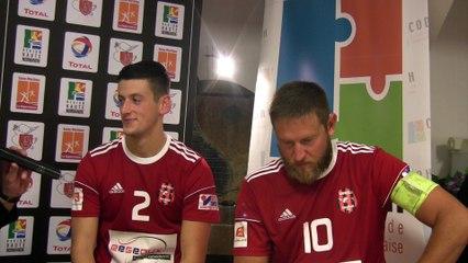 Interview d'après match de Baptiste MIR et Mathieu MARCISZ