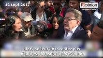 Manifestation: Mélenchon règle ses comptes avec Macron