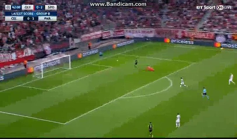 Bruno Fernandes Goal HD - Olympiacos 0-3 Sporting CP 12.09.2017