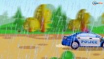 La Voiture de course Poursuite en voiture Vidéo Éducative Voitures de construction Pour Enfants