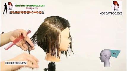 Video Dạy Cắt Tóc, Combination Design Cut Salon Work (Phần 5)