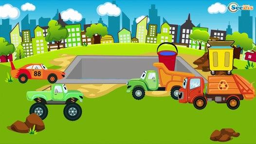 Diggers Cartoons for kids. Digger, Truck, Excavator Kids ...