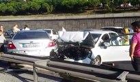 TEM'de zincirleme trafik kazası: Trafik durma noktasına geldi