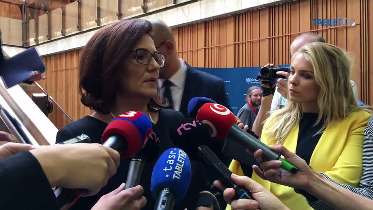 ZÁZNAM: Ministerka školstva M. Lubyová po rokovaní vlády