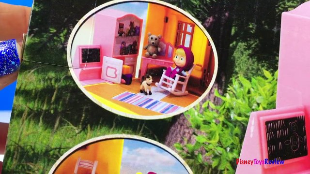 MASHA AND THE BEAR - MASHAS HOUSE A PORTABLE PLAYSET WITH A BED THAT FOLDS OUT & DOGHOUSE -UNBOXING