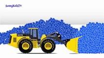 Et enfants les couleurs pour lourd enfants Apprendre camions Véhicules avec Compilation 3 |