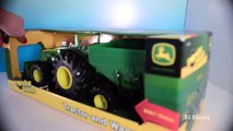 Play Doh Construction Pallets for John Deere Monster Tror Collect Pallets on Farm