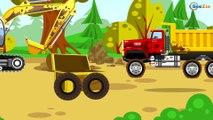 Développement d'enfants Jeu d'assemblage - Pelleteuse, Voiture de course, Tracteur - Vidéo éducative