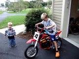 The boys got a razor mx500 dirt bike!