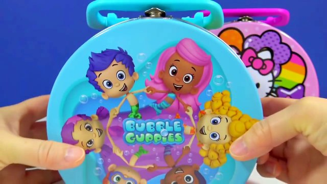 Bubble Guppies Hello Kitty Lunch Box Toys Angry Birds Surprise Egg Finding Dory Shopkins Gift Boxes