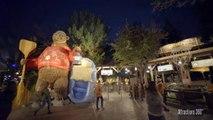 [4K] Grizzly River Raft Water Ride at Night - Disneyland Resort 2016