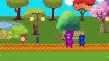 Mega Gummy Bear Stuck On Monorail Funny Cartoon Finger Family Nursery Rhymes