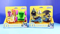 Imaginext Batman And Joker Deluxe Gift Set With Bat Cycle Glider Joker Scooter And Mini Car