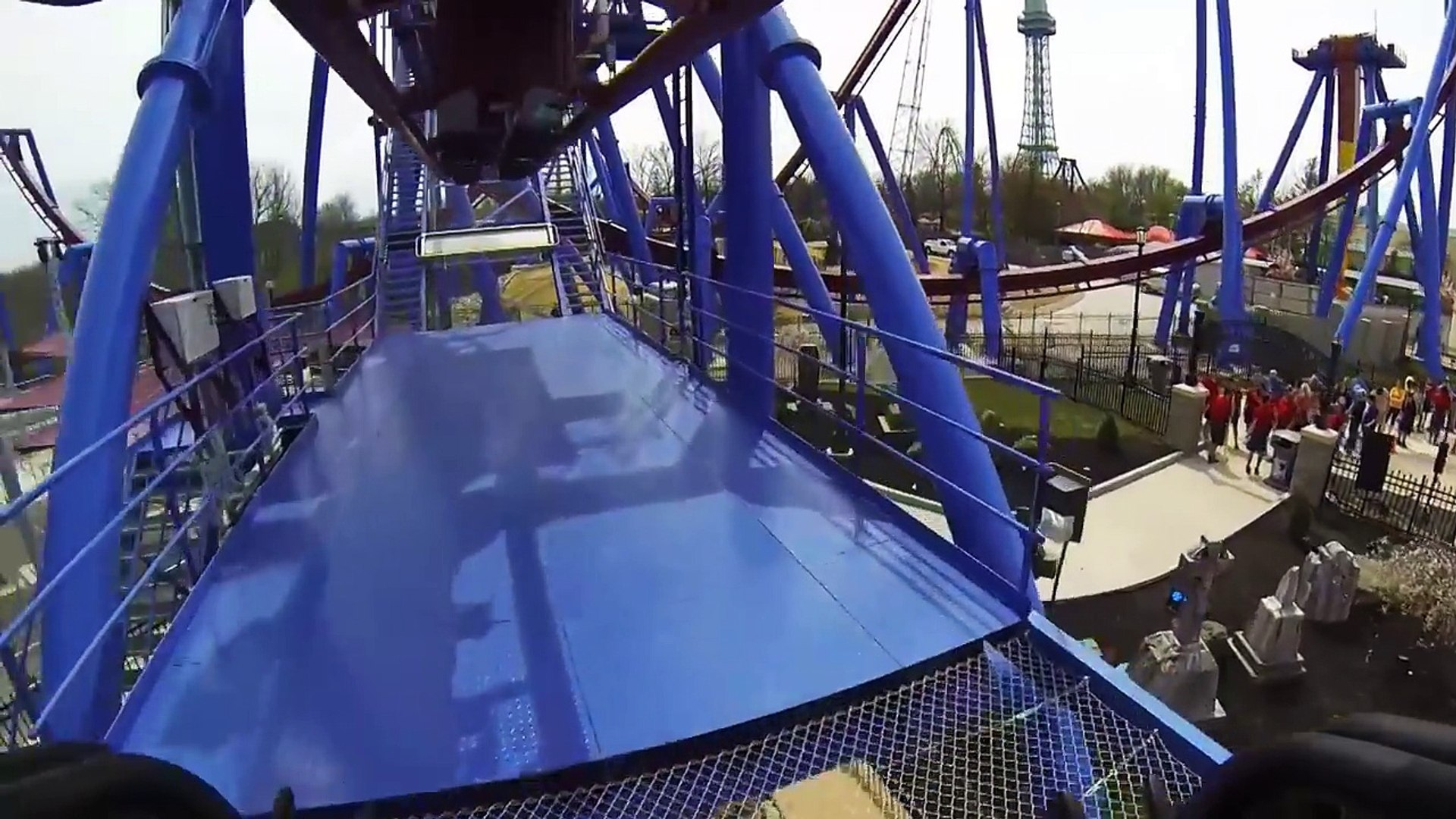Banshee Roller Coaster REAL POV Kings Island Ohio new AWESOME!