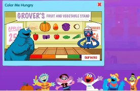 Learn colors with Cookie Monster and Grover Sesame Street