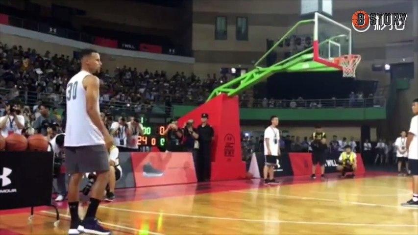 '3점 76% 실화?! 덩크 실패 & 풀코트 게임까지.. 중국에서 팬서비스 제대로 하는 스테판 커리 (Stephen Curry 2017 Asia tour in