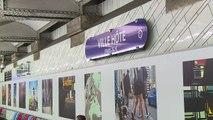 La station de métro Hôtel de Ville à Paris célèbre les JO 2024