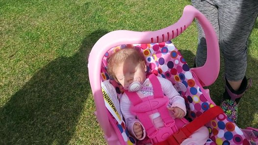 Reborn Baby Doll Goes to the Beach in Joovy Stroller ...