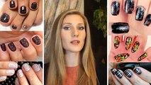 Dessins ongle transparent collants voile design ongles ongles translucides art