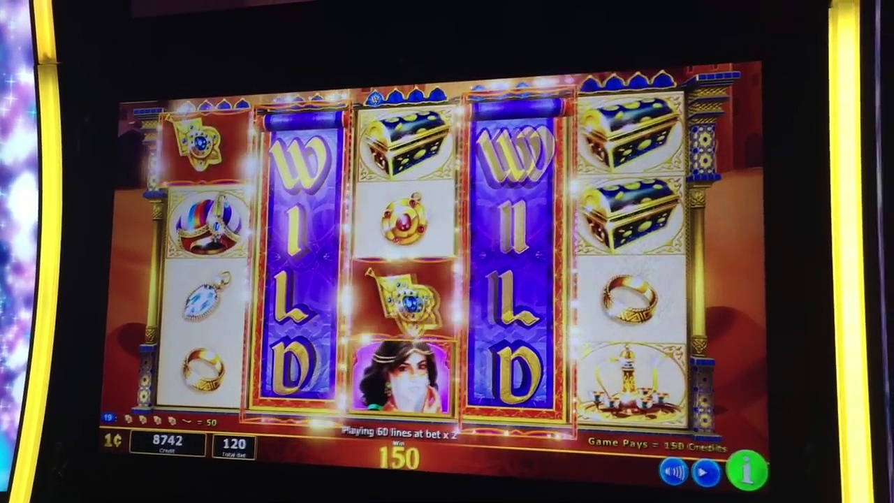 *NEW SLOT* Aladdins Fortune 3D* Max Bet Bonus and Line Hits!!*Live Play* Slot Machine Bonus*By IGT*