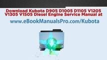 Download Kubota Diesel Engine Service Manual PDF Online - Workshop Manual, Service Manual, Factory Manual - D1403 D1703 V1903 V2203 F2803