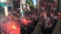 Arsenal - Cologne : 20 000 supporters allemands à Londres, ambiance tendue avant le match (vidéo)