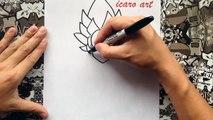 Como dibujar a goku ssj dios azul | how to draw goku ssj god blue