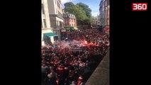 20,000 gjermane pushtojne Londren, shikoni cfare ndodh perpara ndeshjes per Europa League (360video)