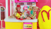 McDonalds Happy Meal Barbie Playset & Vintage McDonalds Food Toys Magic Color Change Play-Doh Egg