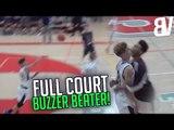 Yassine Gharram Hits Full Court Buzzer Beater To Force OT!   Full Court Buzzer Beater!
