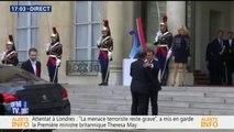 JO 2024: Emmanuel Macron accueille François Hollande et Nicolas Sarkozy à l'Élysée