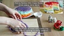 Gâteau crêpe bricolage arc en ciel friandises gâteau crêpé arc-mille