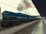 (MSTS) Indian Railways Lucknow Mail WDP4 arrival and departure
