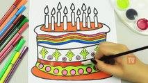 Et anniversaire gâteau couleur Comment à Il les trains jusquà coloration bébé gâteau danniversaire et les trains