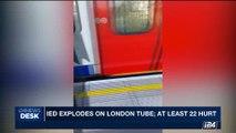i24NEWS DESK | I.S. claims responsibility for London bombing | Friday, September 15th 2017