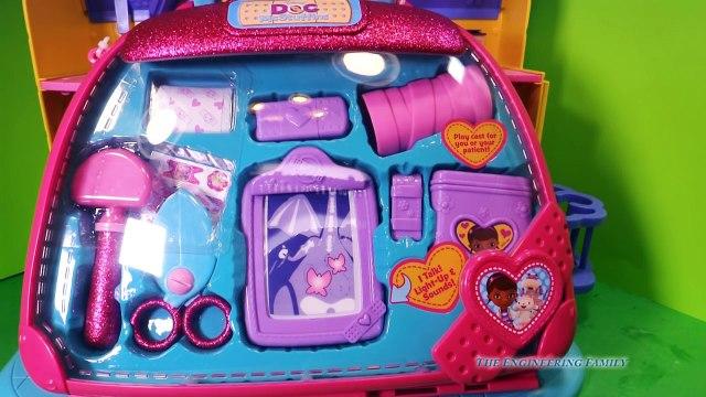 DOC MCSTUFFINS Disney Jr Doc McStuffins Bone Specialist Play Set Disney Doc Video Toy Review