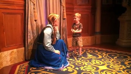 Cooper meets Anna and Elsa - Thanks Madison!