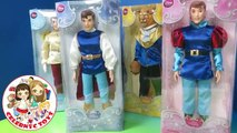 New Disney Princes Toy Opening Unboxing Prince Charming William Beast with Disney Princesses